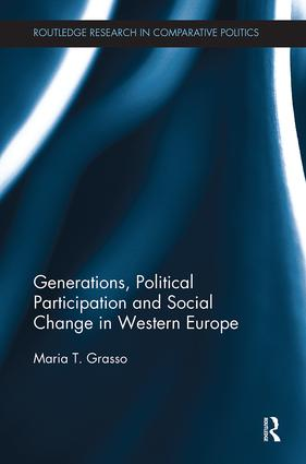 Generations, Political Participation and Social Change in Western Europe: 1st Edition (Paperback) book cover