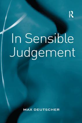 In Sensible Judgement book cover