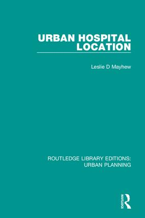 Urban Hospital Location: 1st Edition (Hardback) book cover