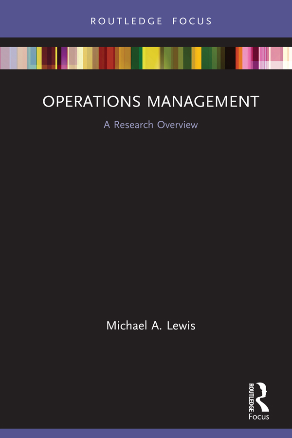 Operations Management: A Research Overview book cover