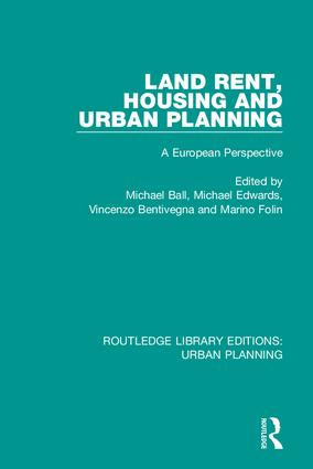 Land Rent, Housing and Urban Planning: A European Perspective, 1st Edition (Hardback) book cover