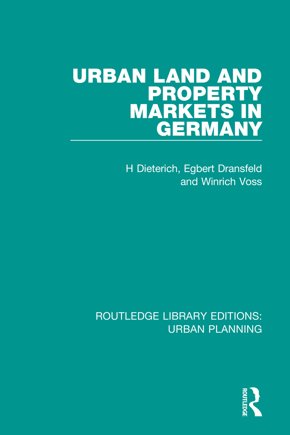 Urban Land and Property Markets in Germany book cover