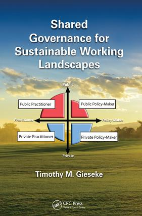 Shared Governance for Sustainable Working Landscapes: 1st Edition (Paperback) book cover