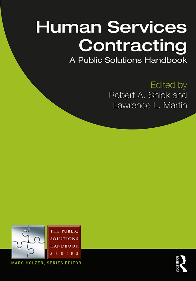 Human Services Contracting: A Public Solutions Handbook, 1st Edition (Paperback) book cover