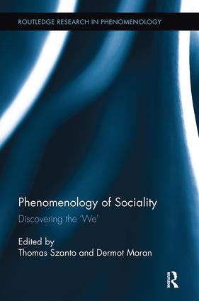 Phenomenology of Sociality: Discovering the 'We' book cover