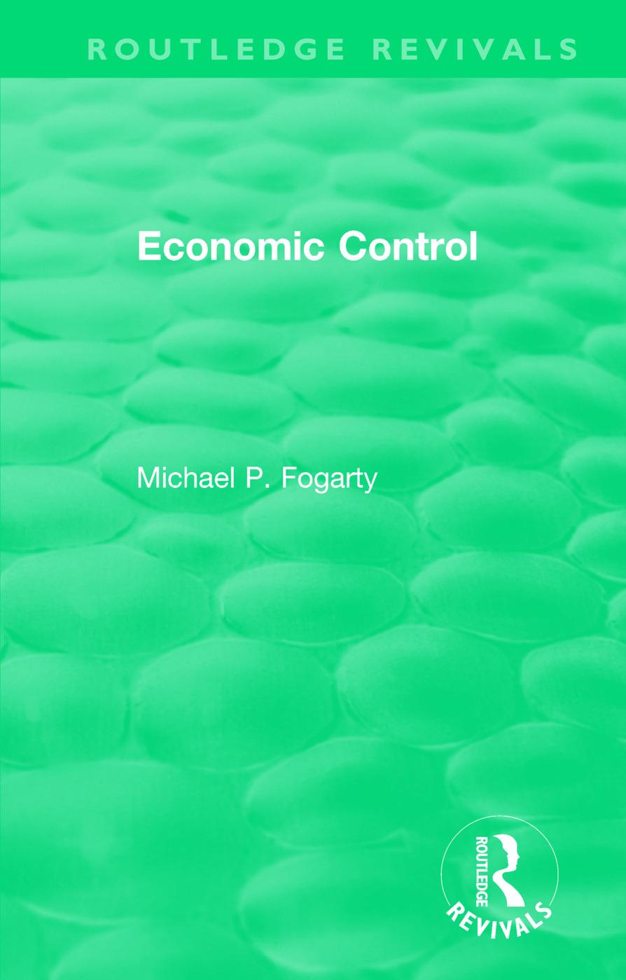 Routledge Revivals: Economic Control (1955) book cover