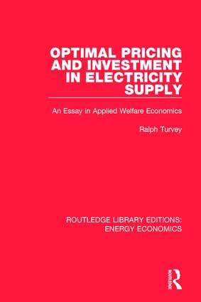 Optimal Pricing and Investment in Electricity Supply: An Esay in Applied Welfare Economics book cover