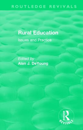 Rural Education (1991): Issues and Practice book cover