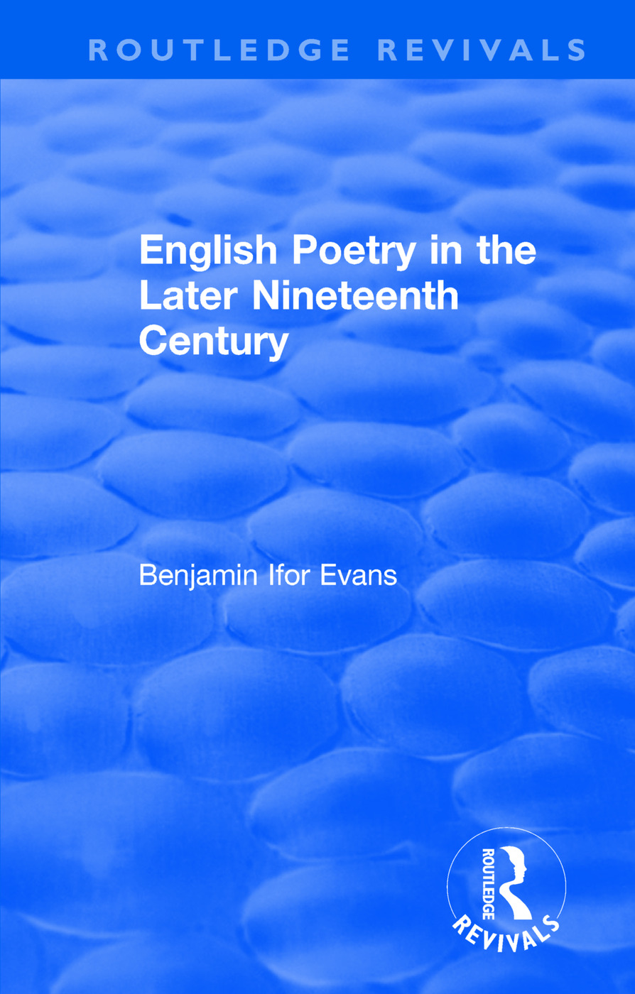 Routledge Revivals: English Poetry in the Later Nineteenth Century (1933) book cover