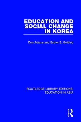 Education and Social Change in Korea book cover