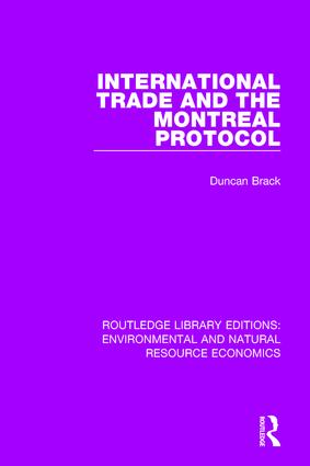 International Trade and the Montreal Protocol book cover