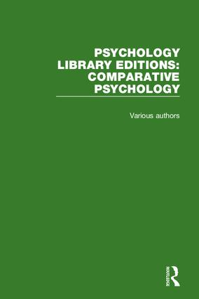 Psychology Library Editions: Comparative Psychology book cover