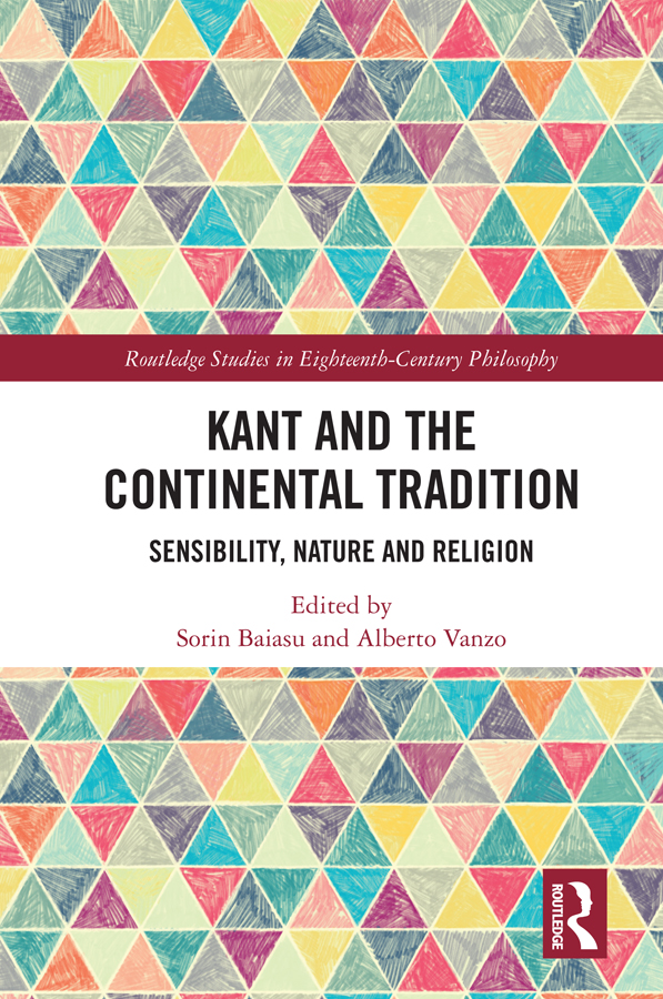 Kant and the Continental Tradition: Sensibility, Nature, and Religion book cover
