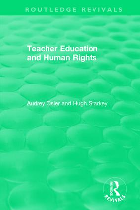 Teacher Education and Human Rights: 1st Edition (Hardback) book cover