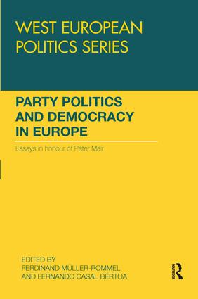 Party Politics and Democracy in Europe: Essays in honour of Peter Mair (Paperback) book cover