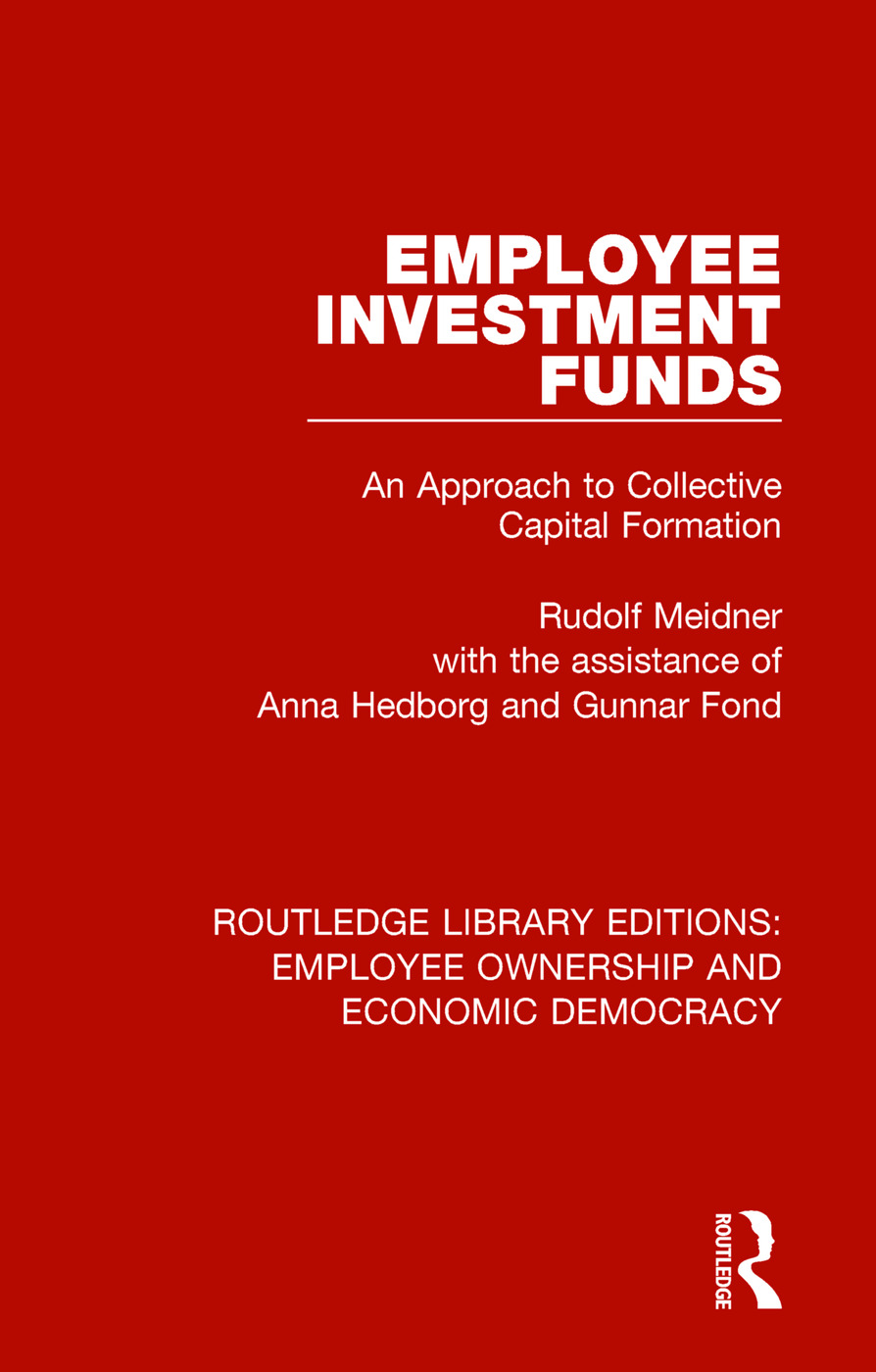 Employee Investment Funds: An Approach to Collective Capital Formation book cover