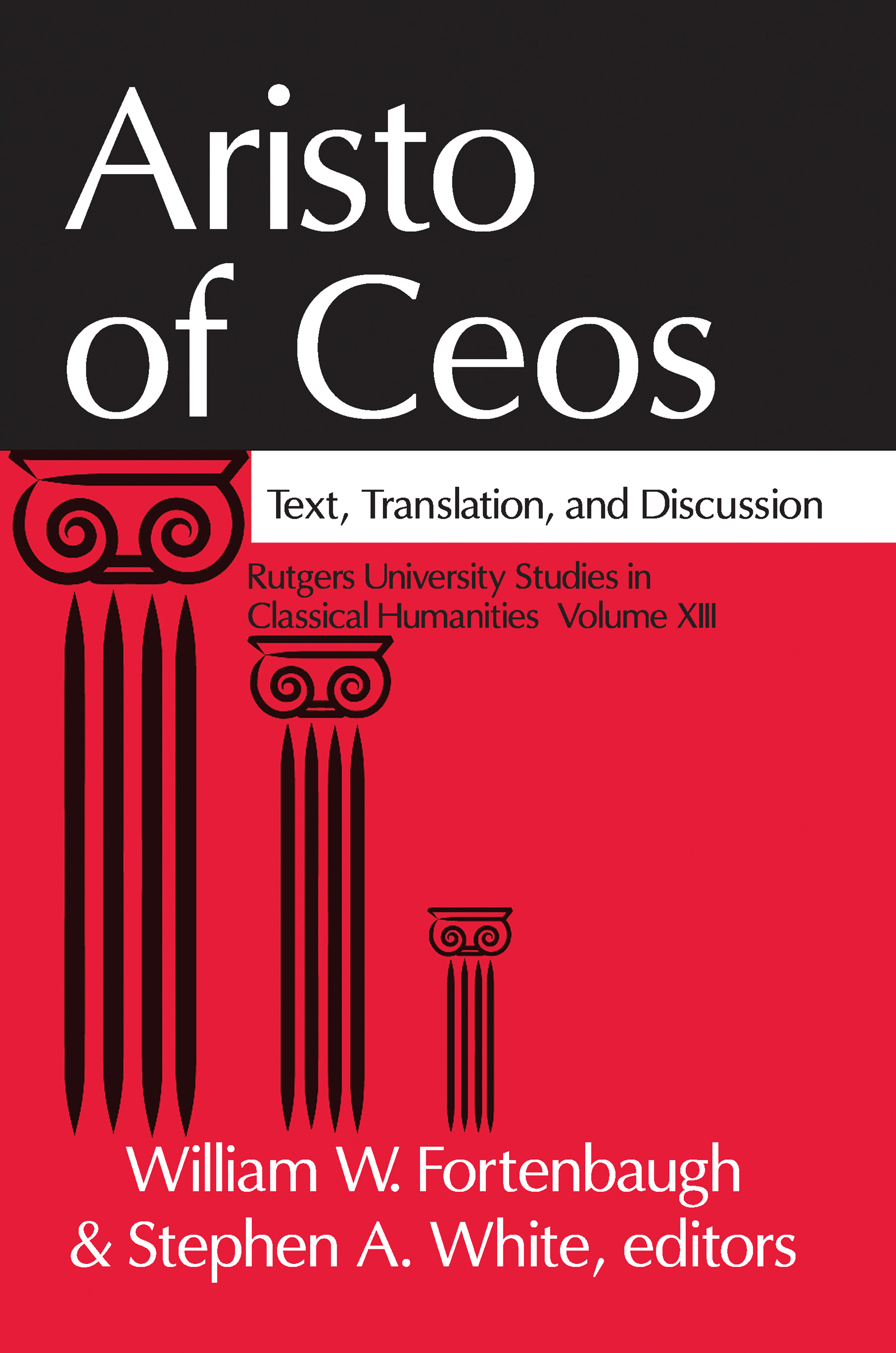 Aristo of Ceos: Text, Translation, and Discussion, 1st Edition (Paperback) book cover