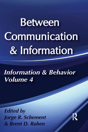 Between Communication and Information: 1st Edition (Paperback) book cover