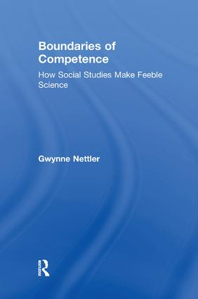 Boundaries of Competence: Knowing the Social with Science, 1st Edition (Paperback) book cover