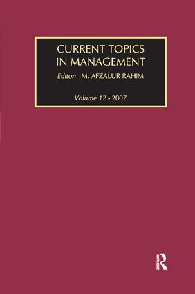 Current Topics in Management: Volume 12, 1st Edition (Paperback) book cover