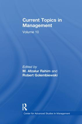 Current Topics in Management: Volume 10, 1st Edition (Paperback) book cover
