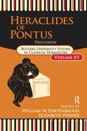 Heraclides of Pontus: Discussion book cover