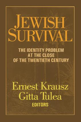 Jewish Survival: The Identity Problem at the Close of the 20th Century, 1st Edition (Paperback) book cover