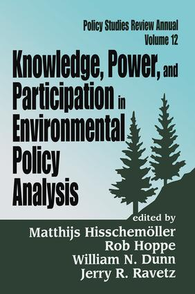 Knowledge, Power, and Participation in Environmental Policy Analysis: 1st Edition (Paperback) book cover