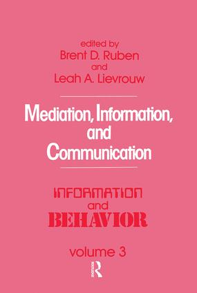 Mediation, Information, and Communication: 1st Edition (Paperback) book cover