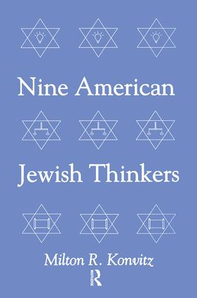 Nine American Jewish Thinkers: 1st Edition (Paperback) book cover