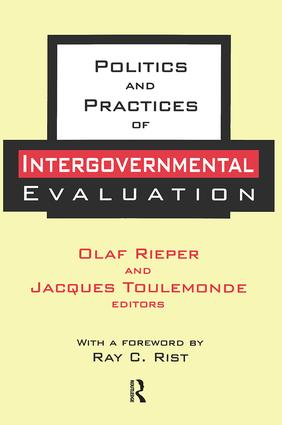 Politics and Practices of Intergovernmental Evaluation: 1st Edition (Paperback) book cover