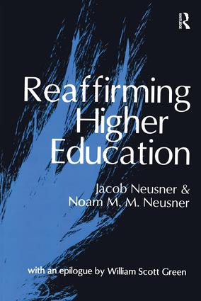 Reaffirming Higher Education: 1st Edition (Paperback) book cover