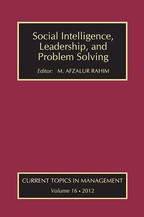 Social Intelligence, Leadership, and Problem Solving: 1st Edition (Paperback) book cover