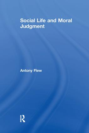 Social Life and Moral Judgment: 1st Edition (Paperback) book cover