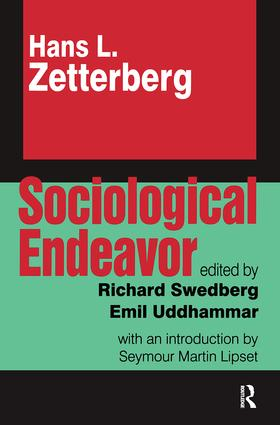 Sociological Endeavor: 1st Edition (Paperback) book cover