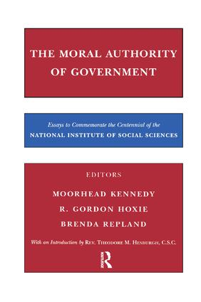 The Moral Authority of Government book cover