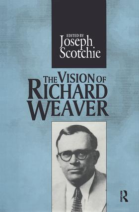 The Vision of Richard Weaver book cover
