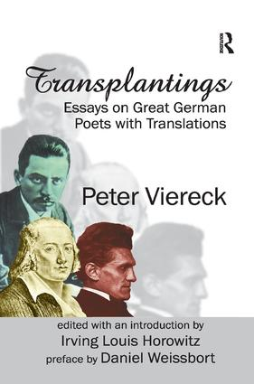 Transplantings: Essays on Great German Poets with Translations, 1st Edition (Paperback) book cover