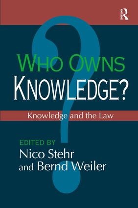 Who Owns Knowledge?: Knowledge and the Law, 1st Edition (Paperback) book cover