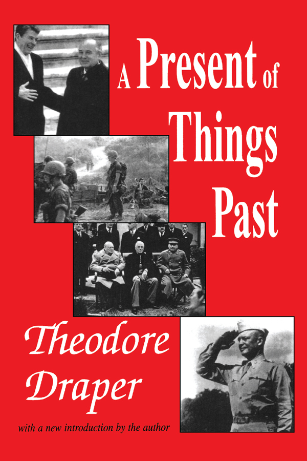 A Present of Things Past: 1st Edition (Paperback) book cover