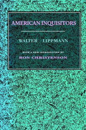 American Inquisitors: 1st Edition (Hardback) book cover