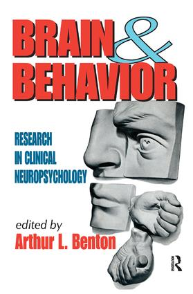 Brain and Behavior: Research in Clinical Neuropsychology, 1st Edition (Hardback) book cover