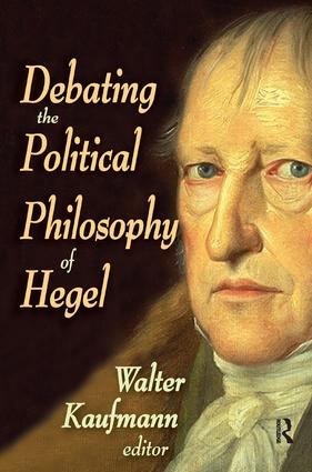 Debating the Political Philosophy of Hegel: 1st Edition (Hardback) book cover