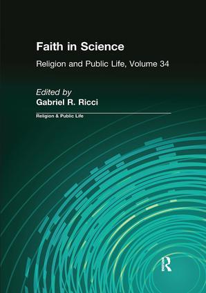 Faith in Science: 1st Edition (Hardback) book cover