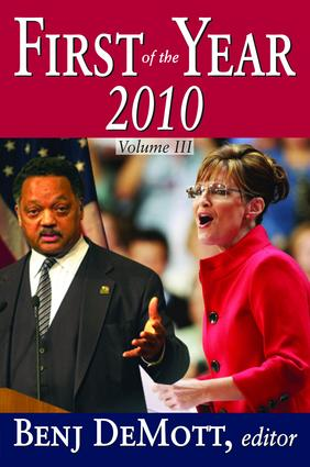 First of the Year: 2010: Volume III, 1st Edition (Hardback) book cover