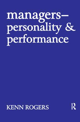 Managers: Personality and Performance, 1st Edition (Hardback) book cover