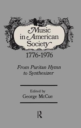 Music in American Society book cover