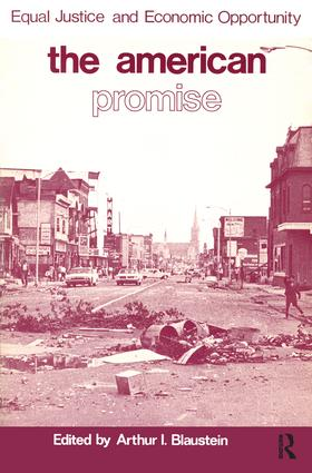 American Promise: Equal Justice and Economic Opportunity, 1st Edition (Hardback) book cover