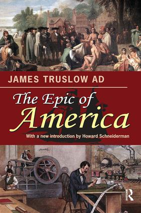 The Epic of America: 1st Edition (Paperback) book cover