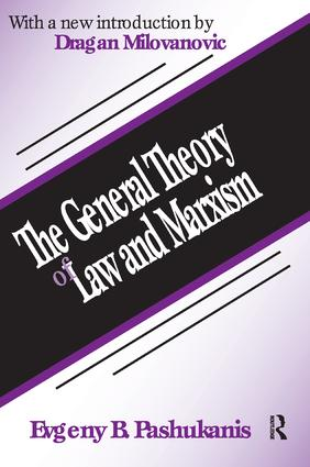 The General Theory of Law and Marxism: 1st Edition (Hardback) book cover